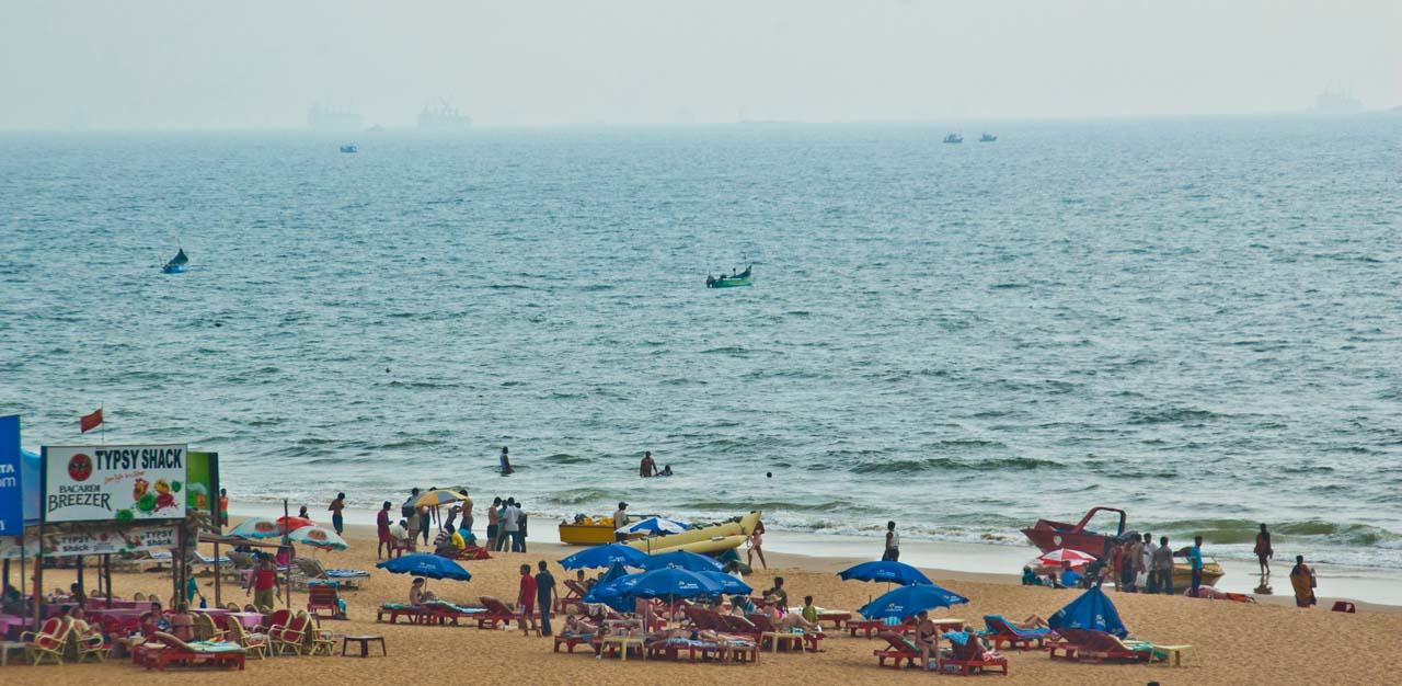 Shacks at Calangute Beach Goa