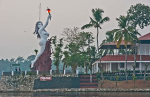 Statue in the Kerala Backwaters