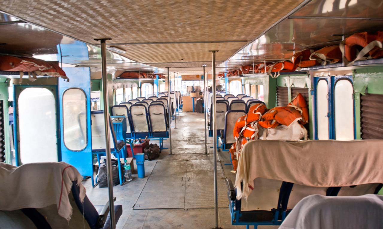 Tourist Boat inside Kerala Backwaters