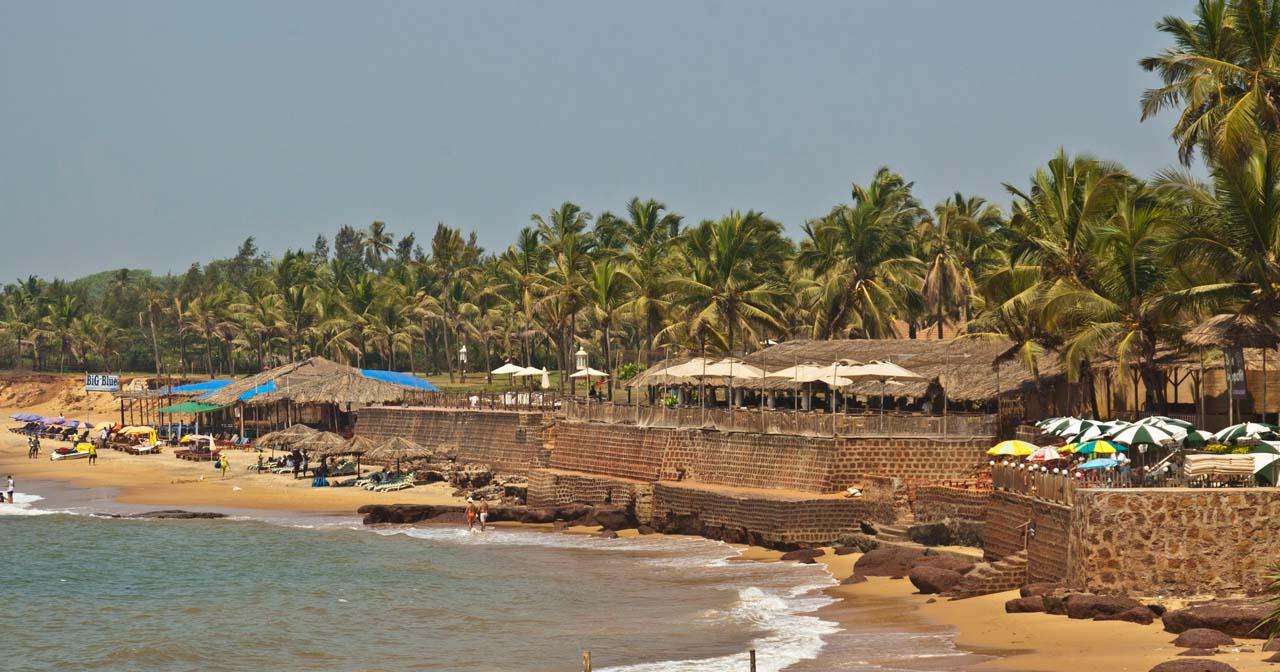 Sinquerim beach view from Fort Aguada Goa