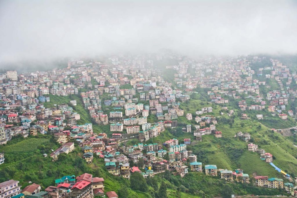 Houses on slops of Shimla