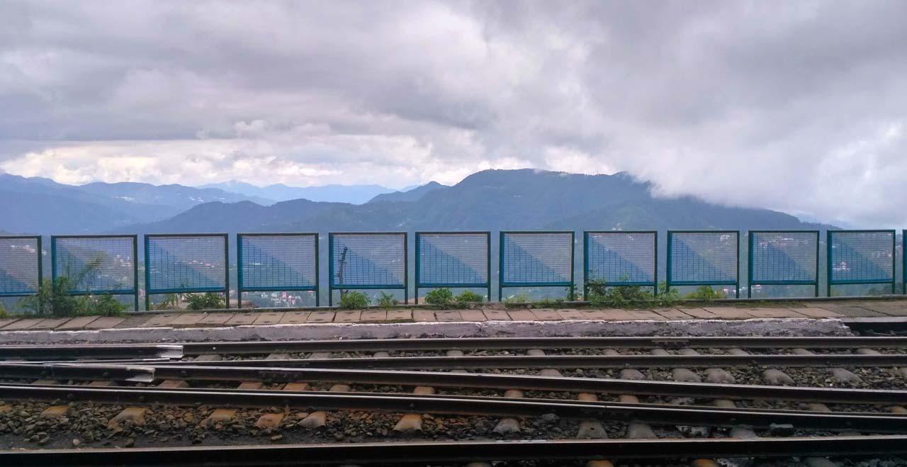 Railway track at Shimla railway Station