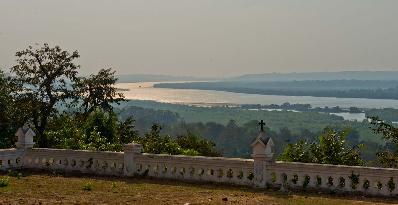 View from Divar Island Goa