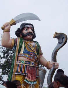 Statue of Mahishasura at Chamundi Hill Mysore