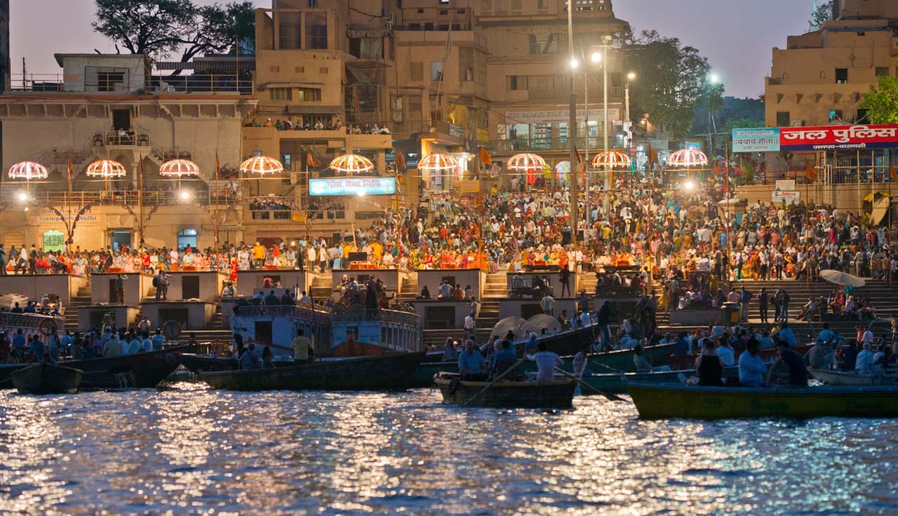 Ganga Aarti from Boat in Varanasi