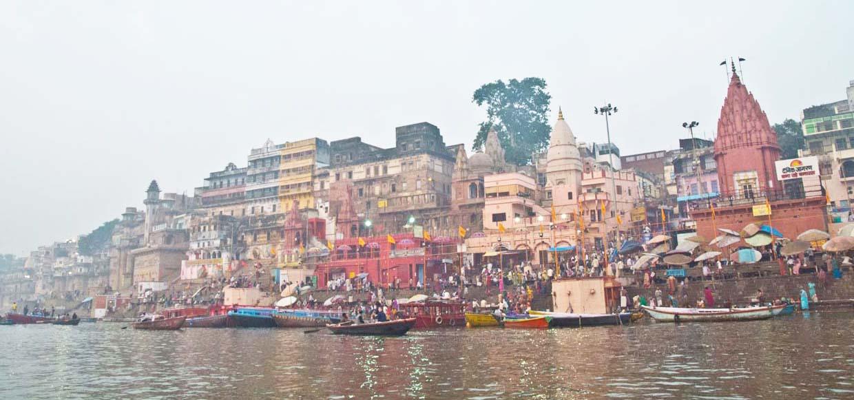Ghats of Varanasi and Ganga River