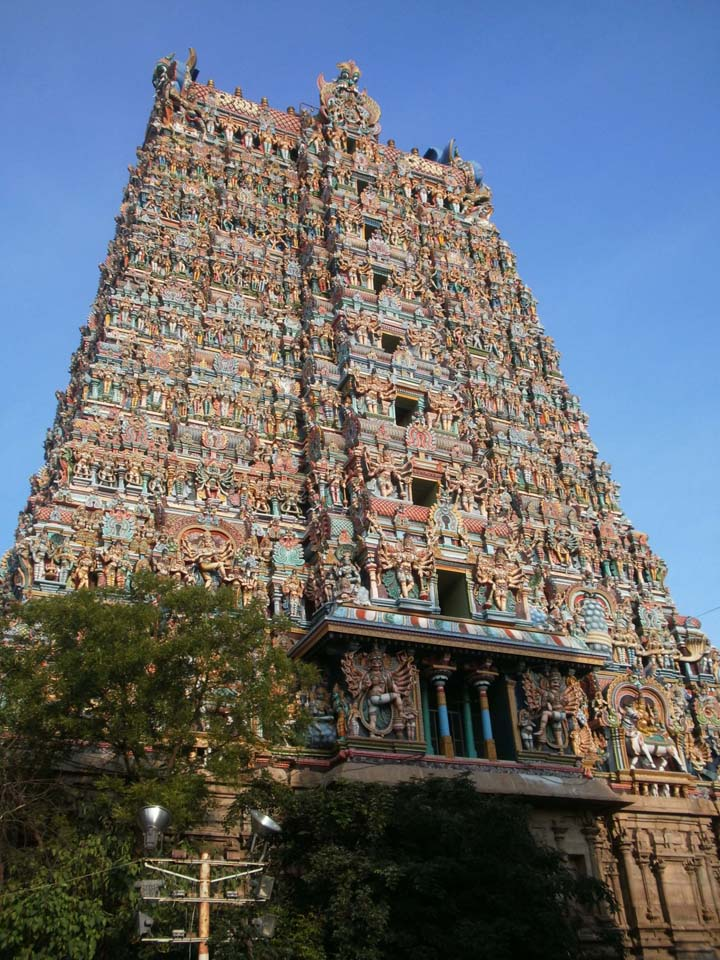 Meenakshi Temple Tower Madurai
