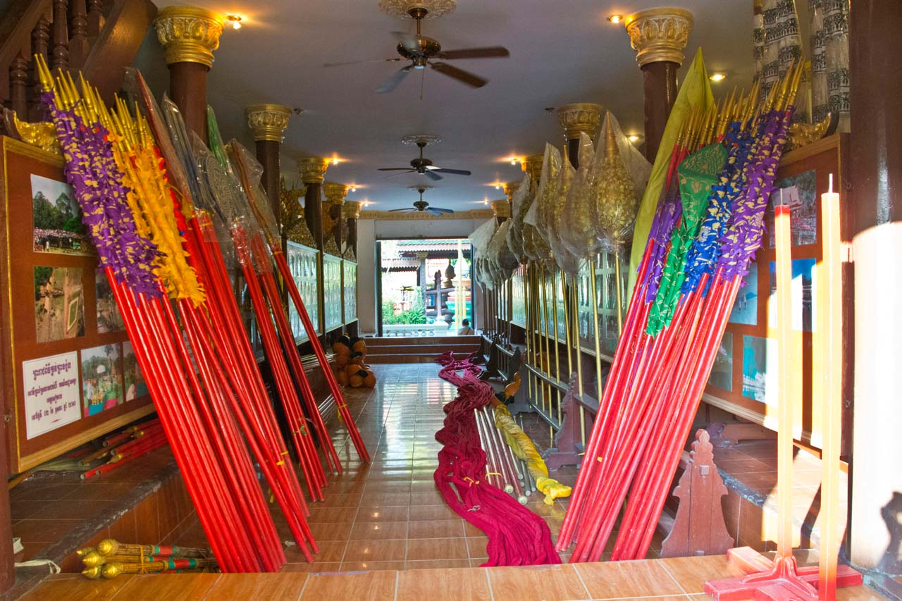 Assesories for performing art in Royal Palace Phnom Penh