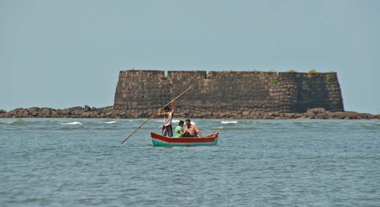 By Boat Kolaba Fort Alibaug