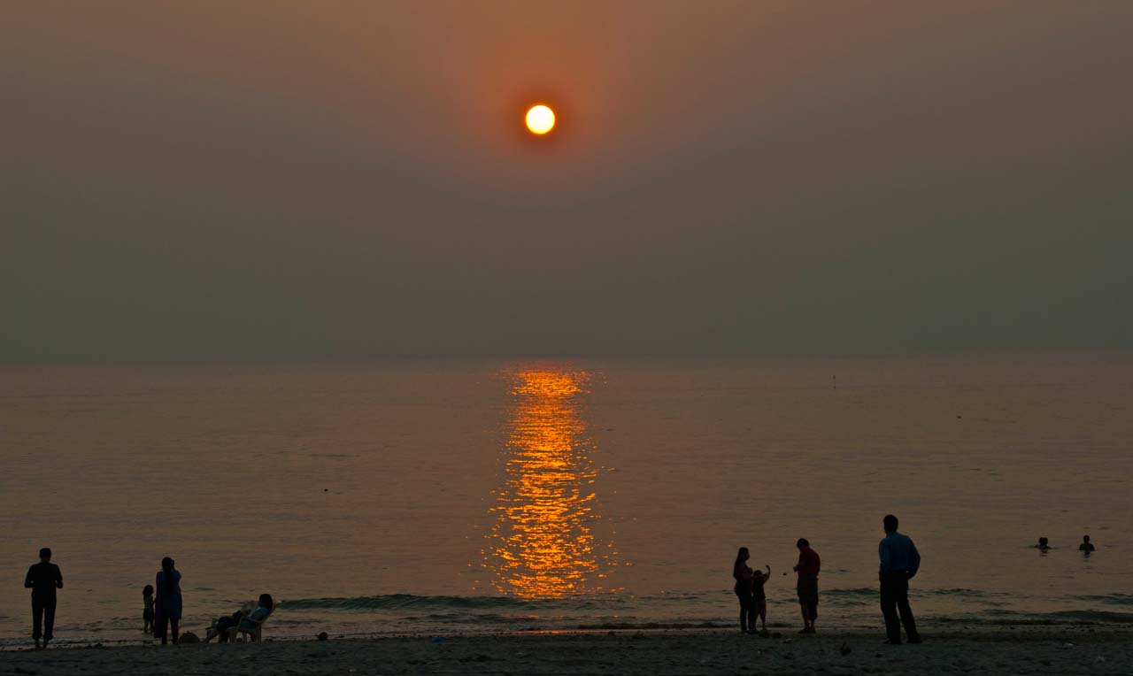 Sunset at beach, Alibaug