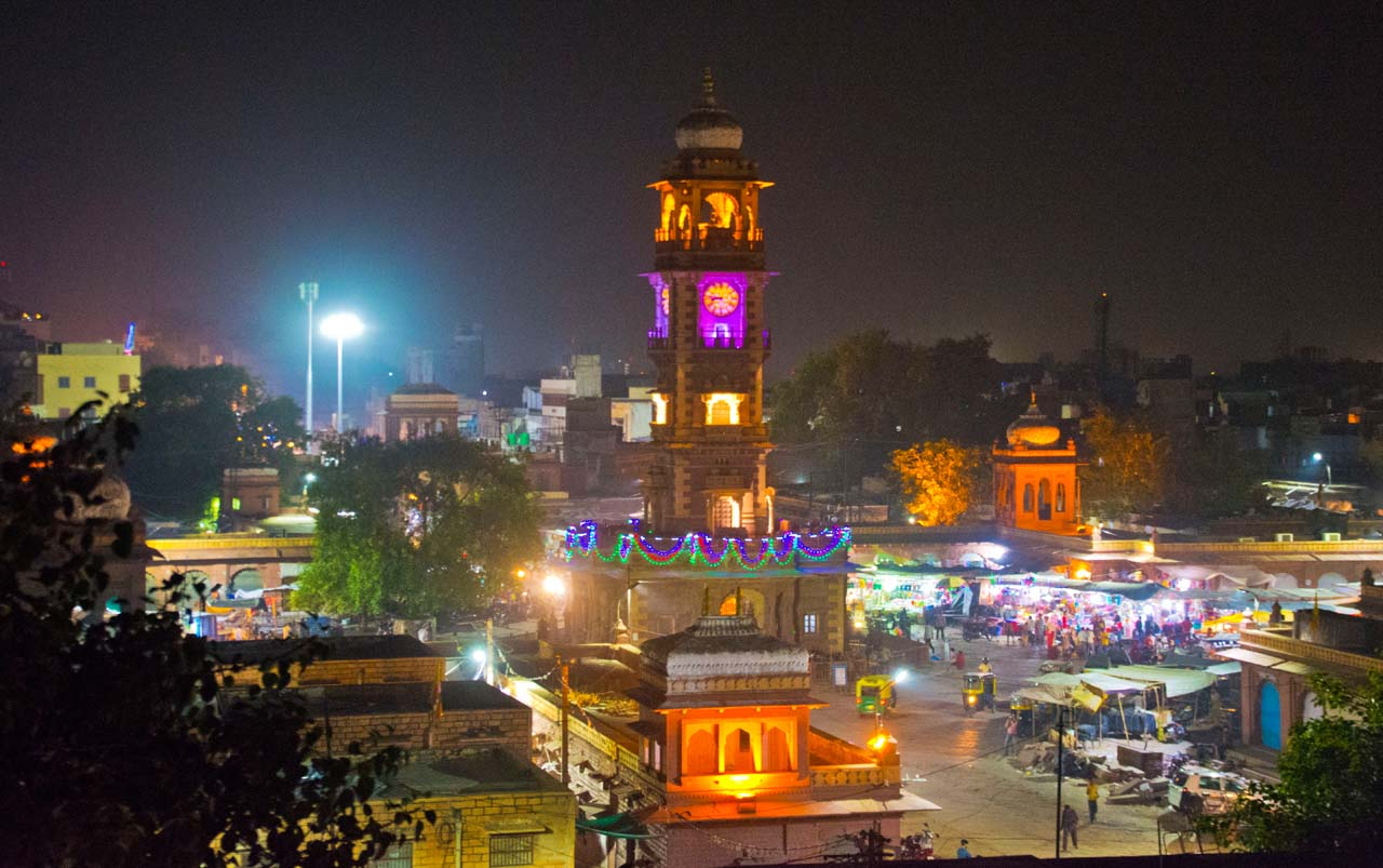 Clock Tower Jodhpur at Night