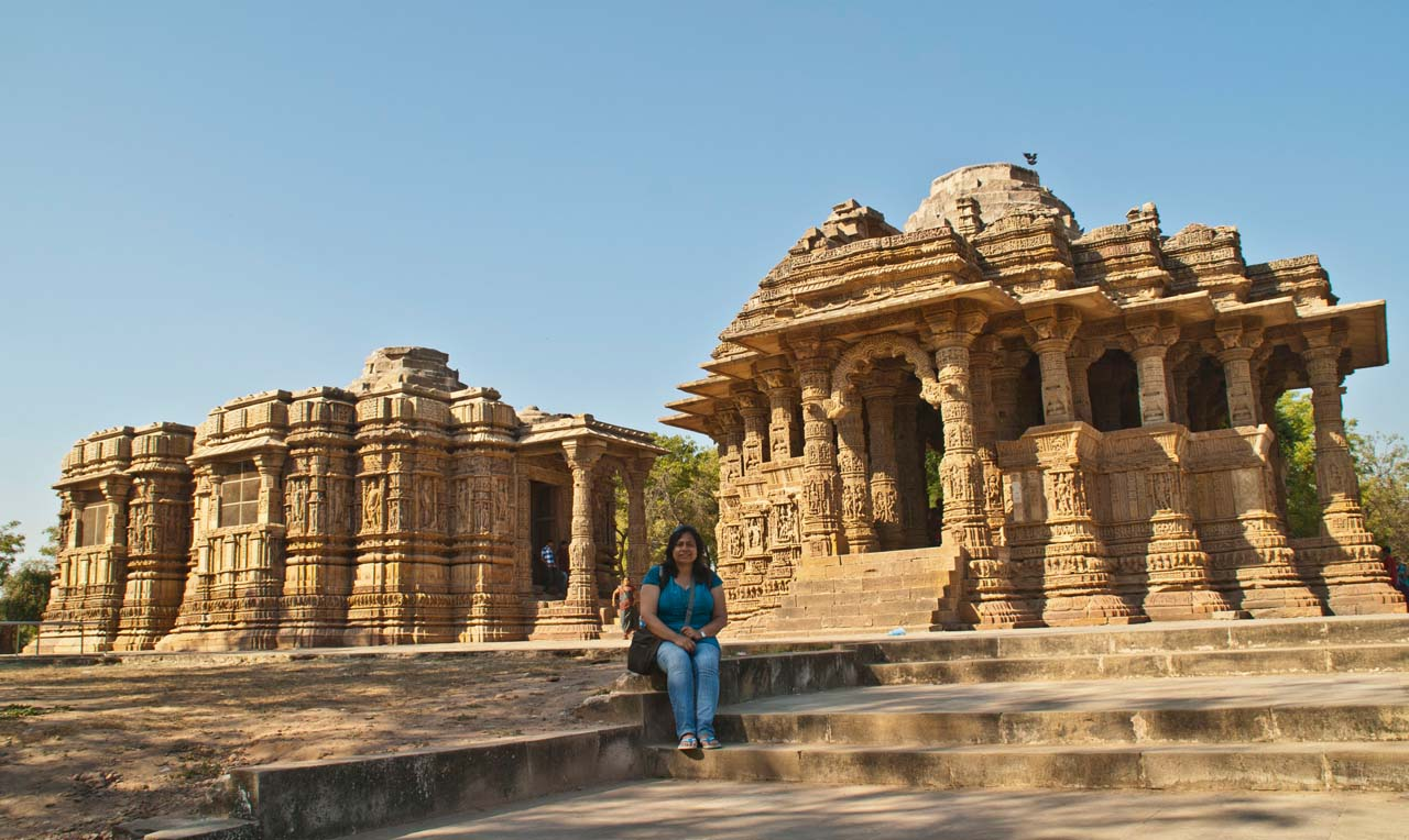 Me at Modhera sun temple