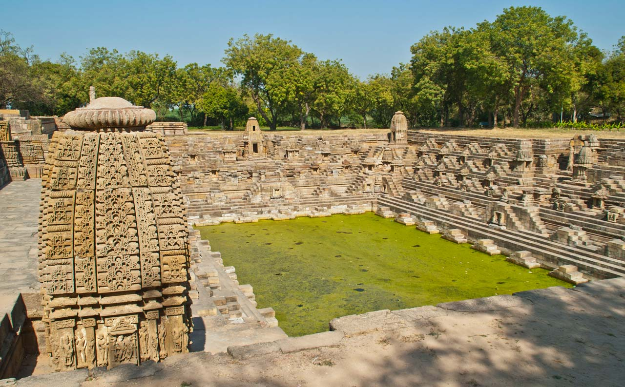 Modhera Sun Temple Tank and temple