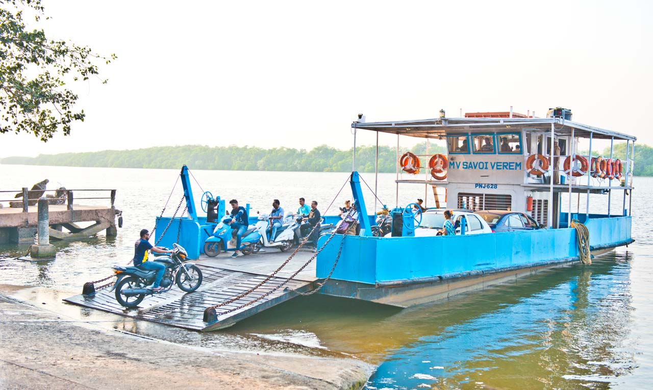 Ferry from Goa to Divar Island