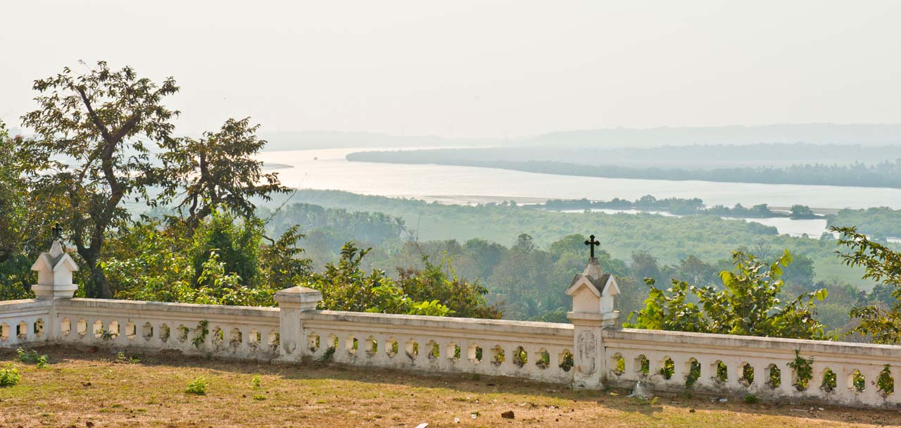 View from Church at Divar Island