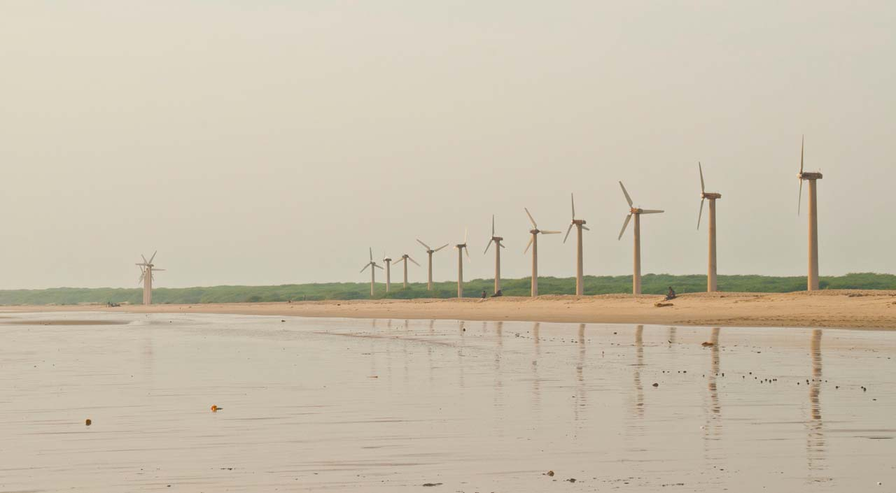 Windmills at Mandvi Beach