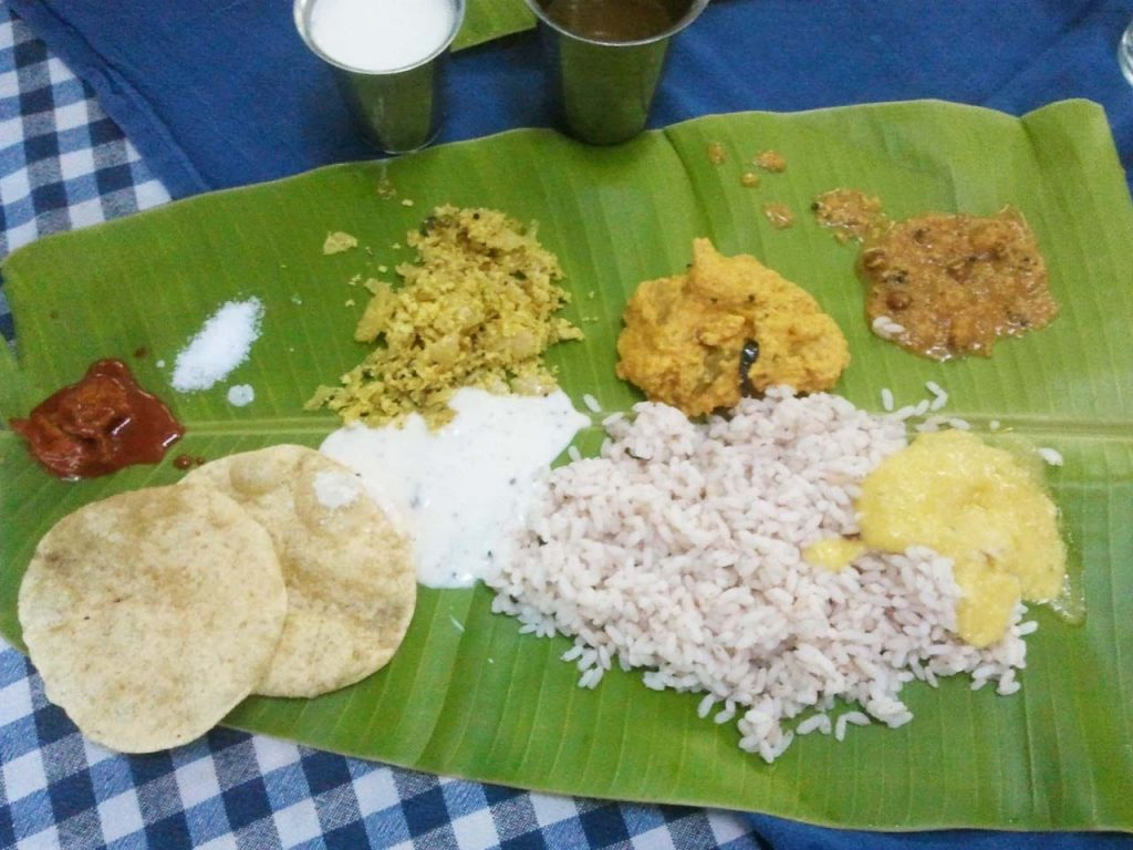 Food on Banana Leaf