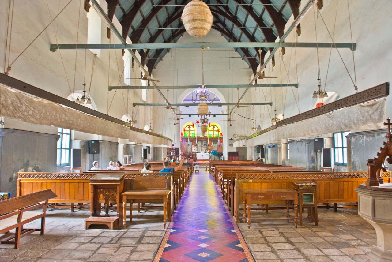Inside of St Francis Church in Fort Kochi