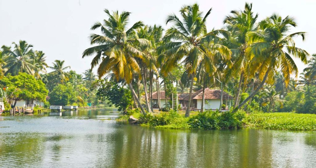 Kumarakom or Alleppey and Backwaters of Alleppey in Kerala