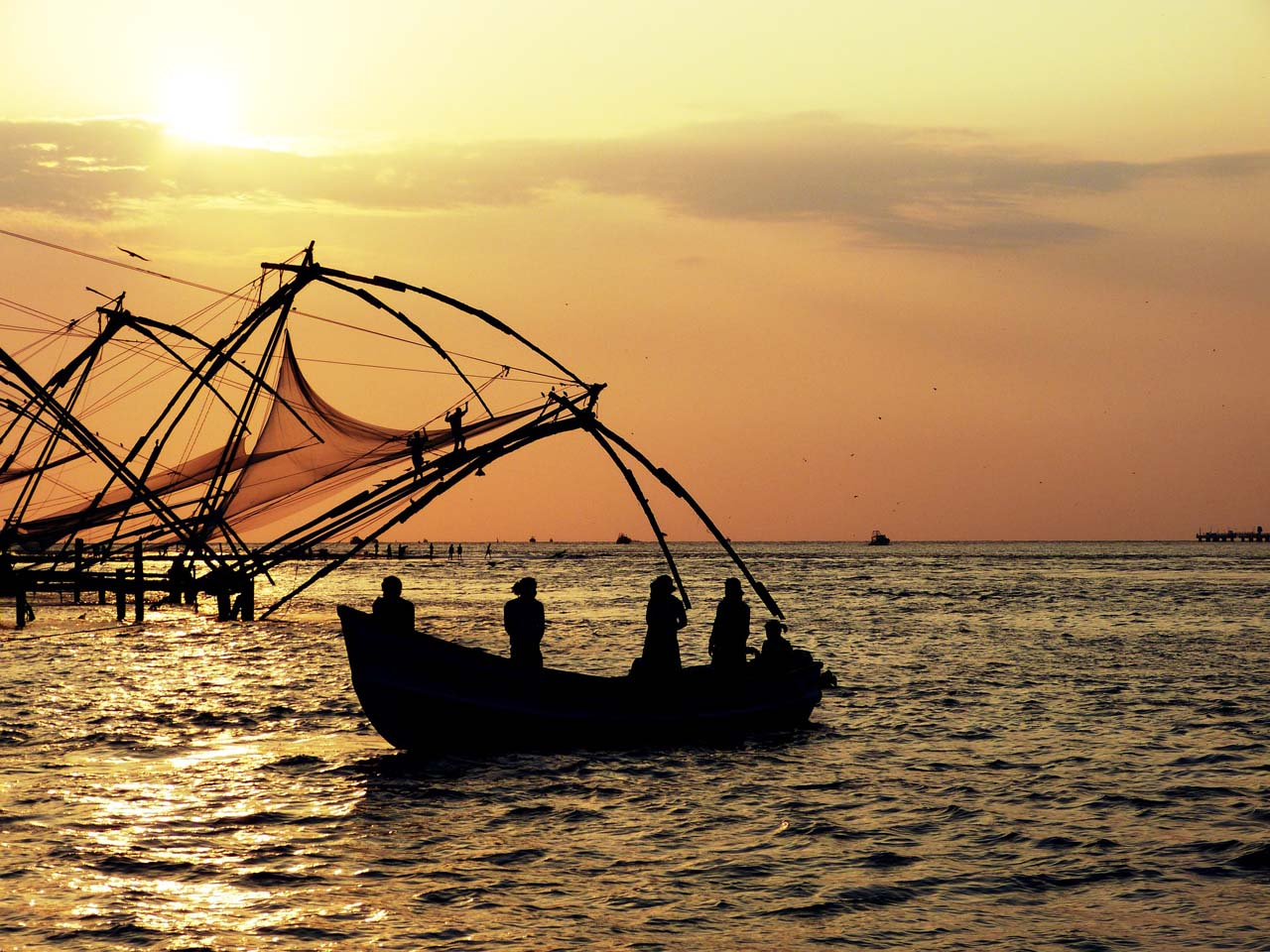 Sunset with Chinese Fishing Net