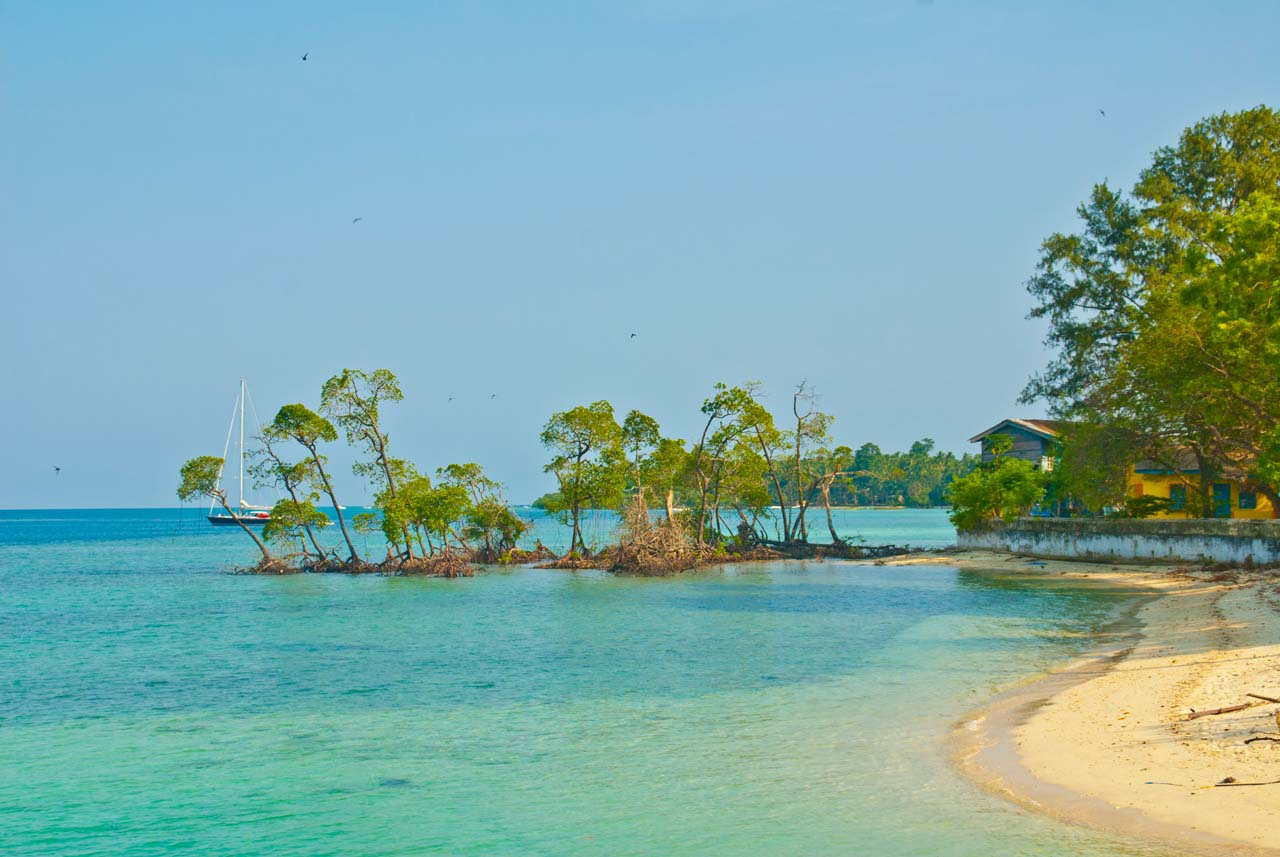 Havlock sea beach in Andaman Islands