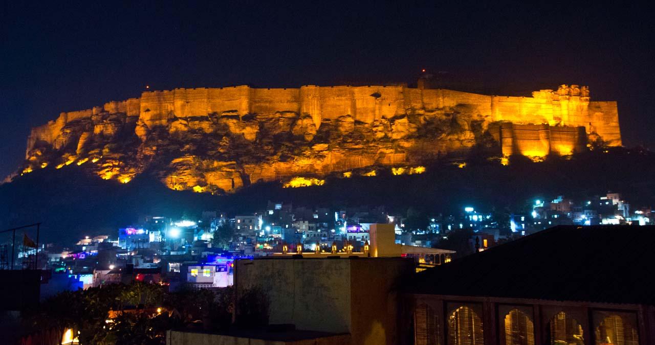 Jodhpur's Mehrangarh Fort at Night