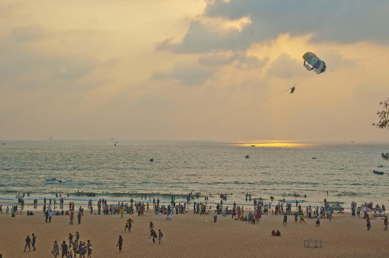 Water sports at Calangute Beach Goa