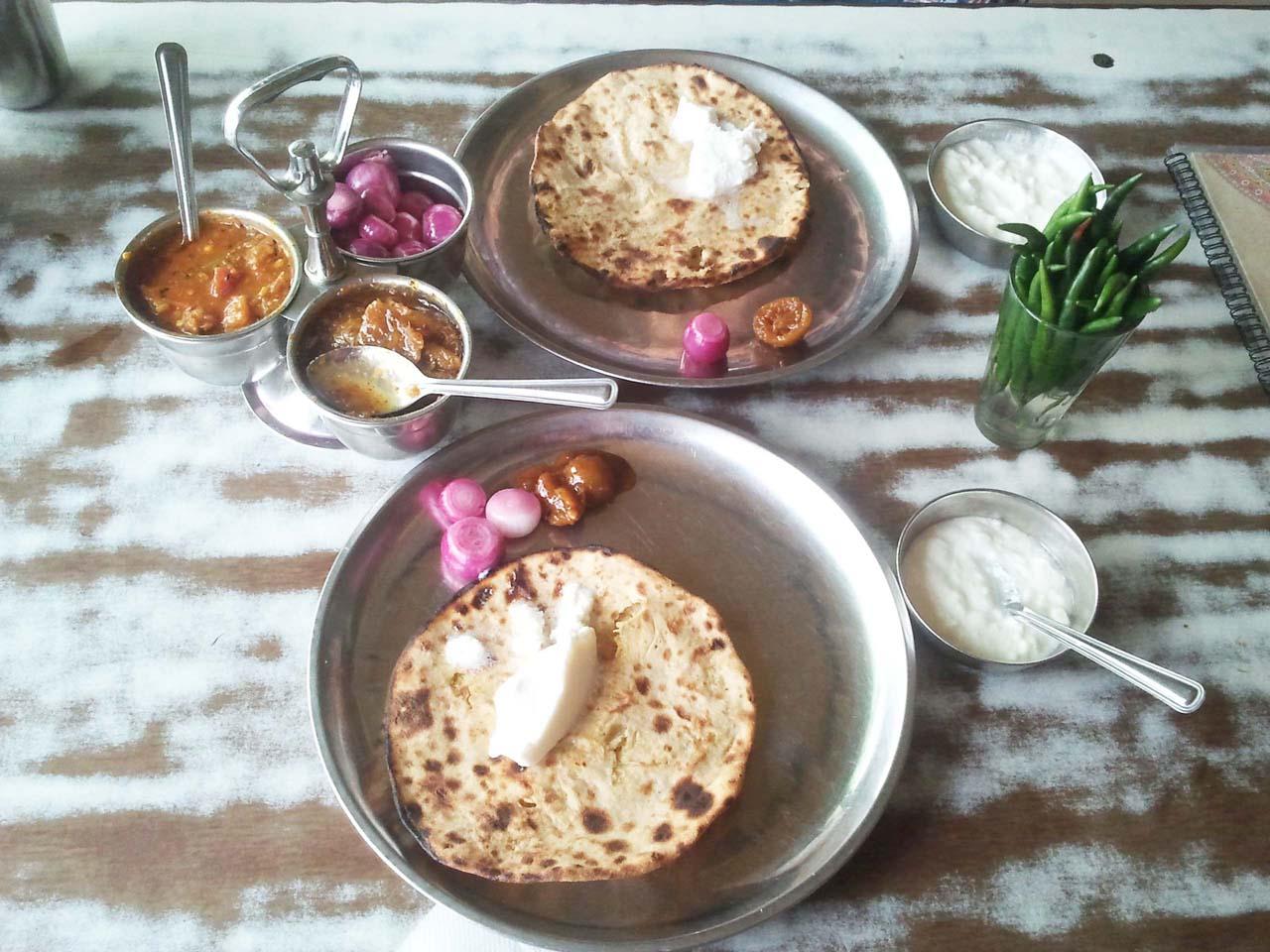 Paratha at Sukhadev Dhaba Murthal