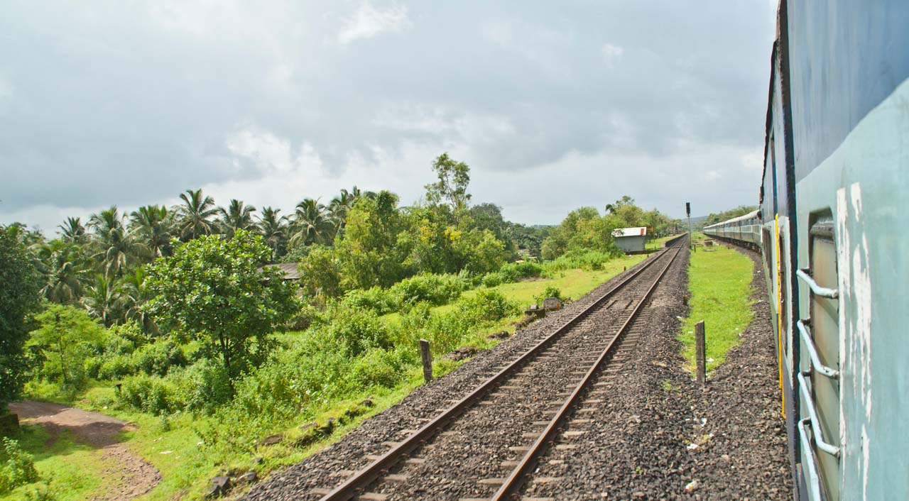 View from train to Malvan