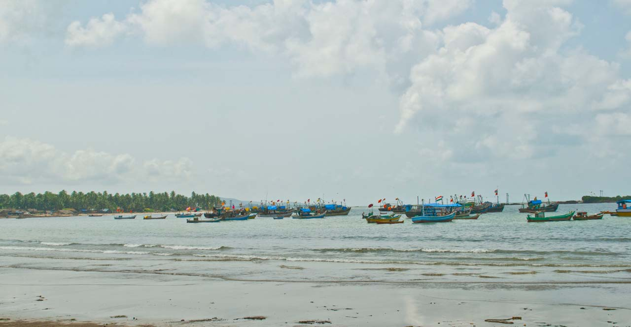 Boats in Malvan sea