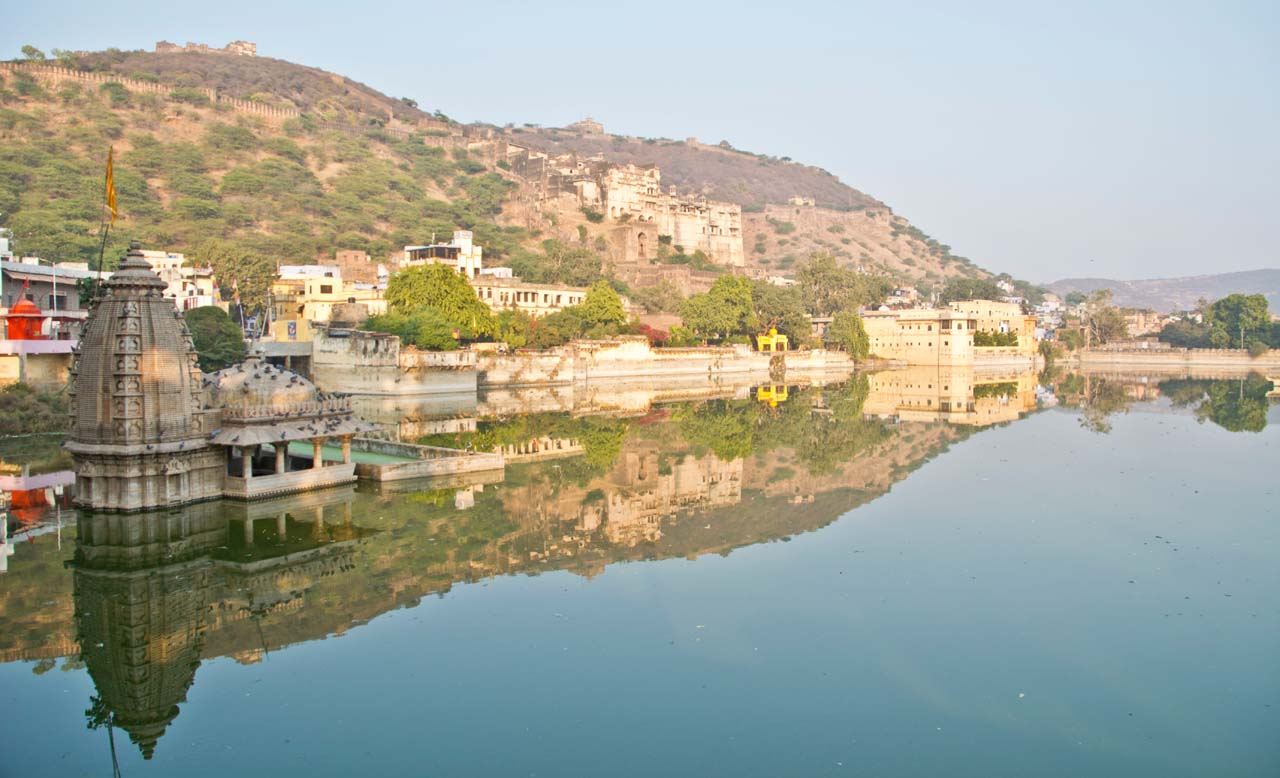 Varuna temple in Nawal sagar lake Bundi