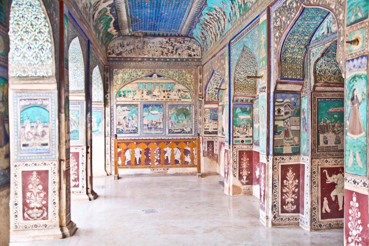 Paintings in Garh palace bundi rajasthan