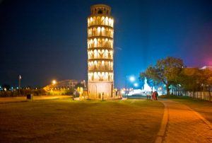Leaning Tower of Pisa at Seven wonder Park kota