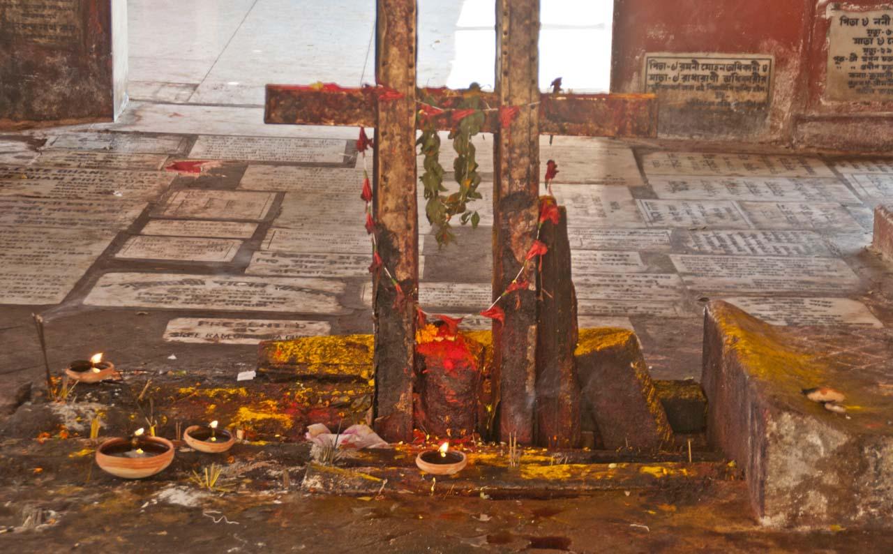 Place of sacrifice in Kamakhaya temple Guwahati