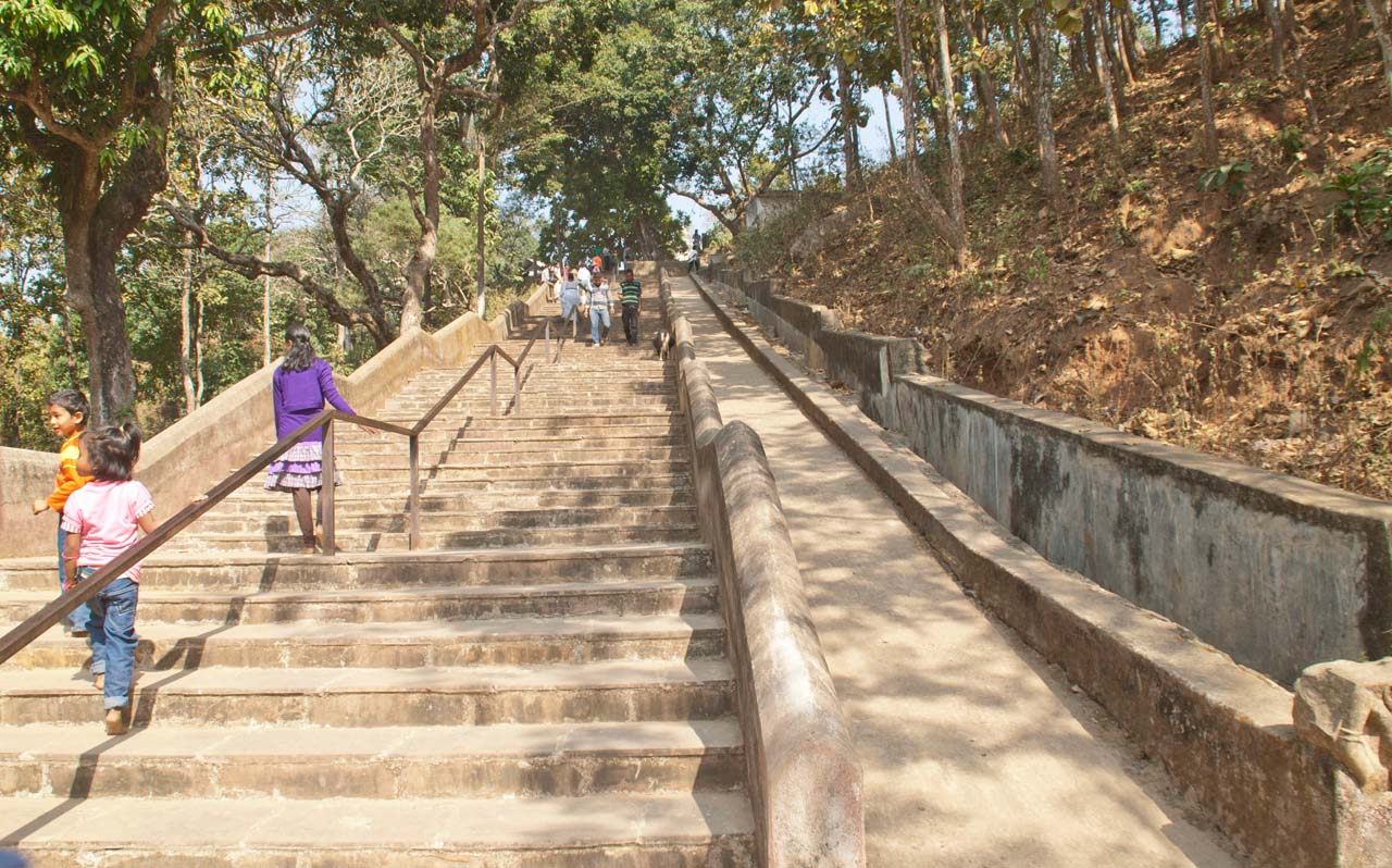 Stairs for Gnesh temple Hajo