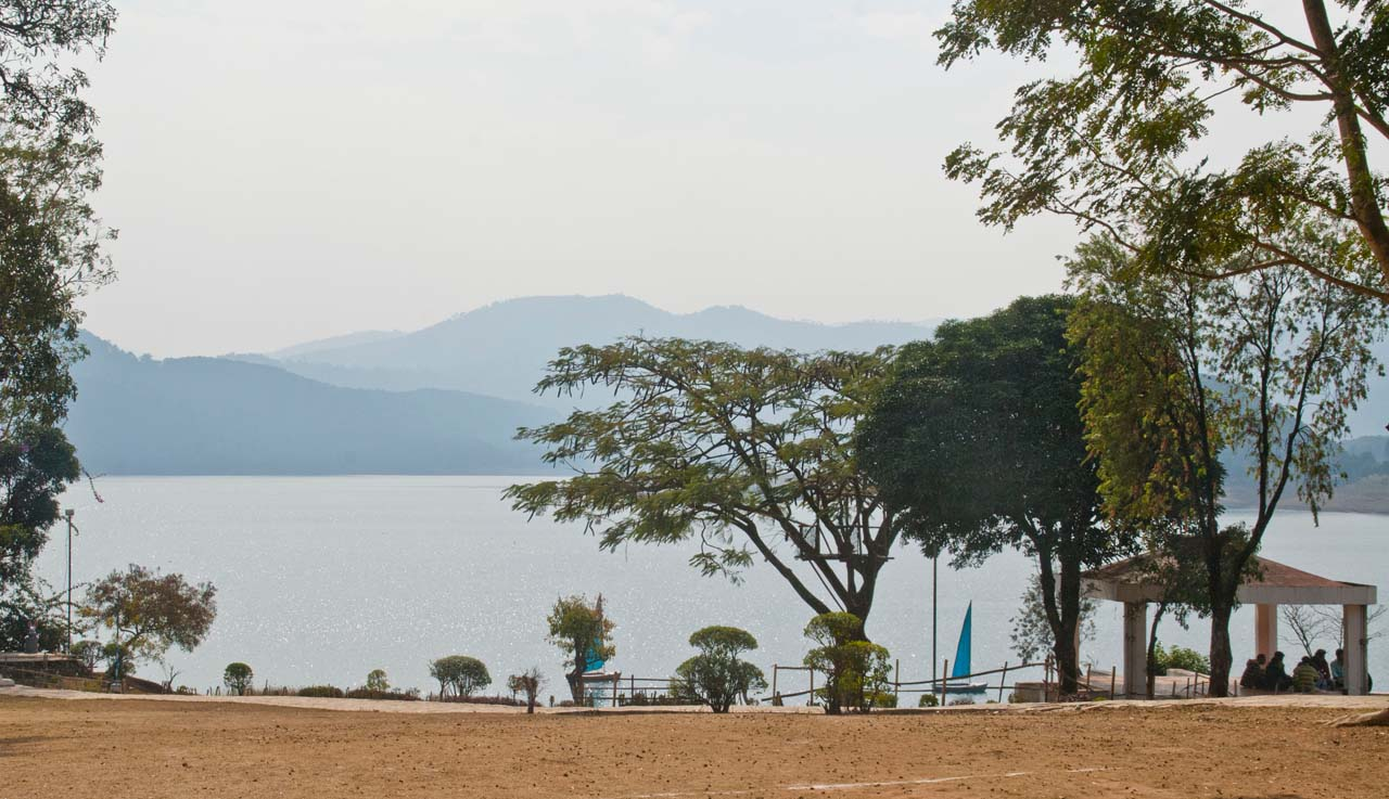 Umiam lake and sitting area