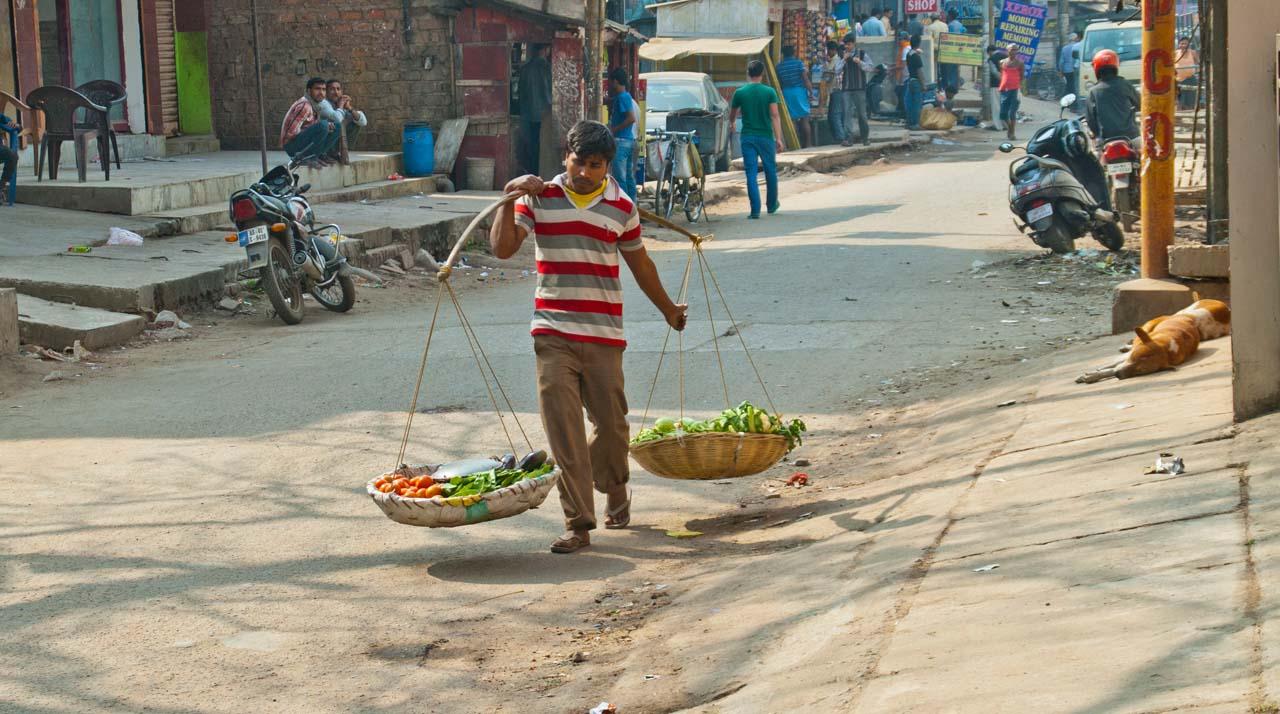 Vegetable vandor in Guwahati city