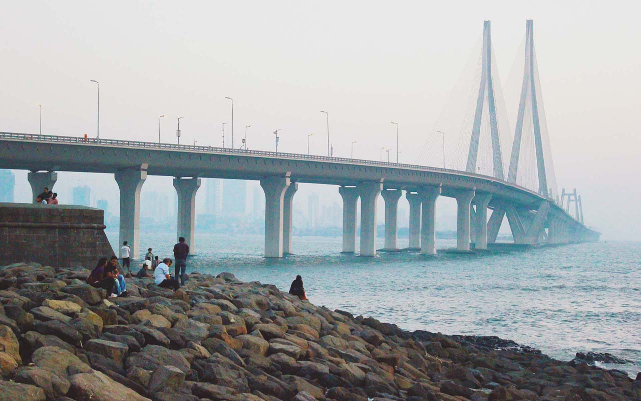 Bandra worli sea link from Band stand Mumbai