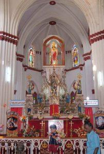 Inside of Basilica of the Sacred Heart of Jesus Pondicherry