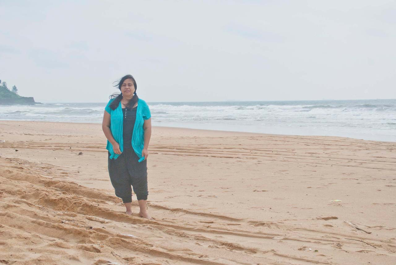 I at Candolim beach Goa