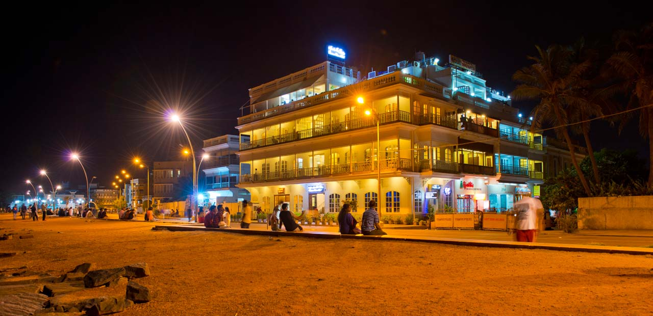 Pondicherry at night