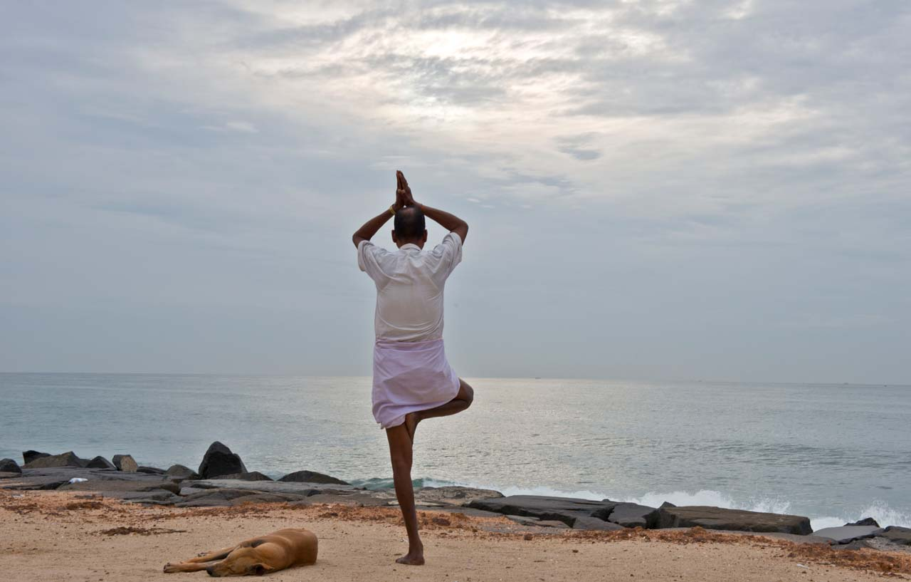 Yoga at Promenade Beach