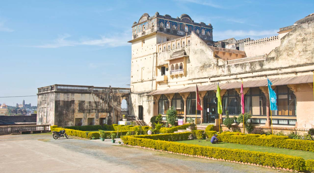 Sheesh Mahal Orccha fort complex