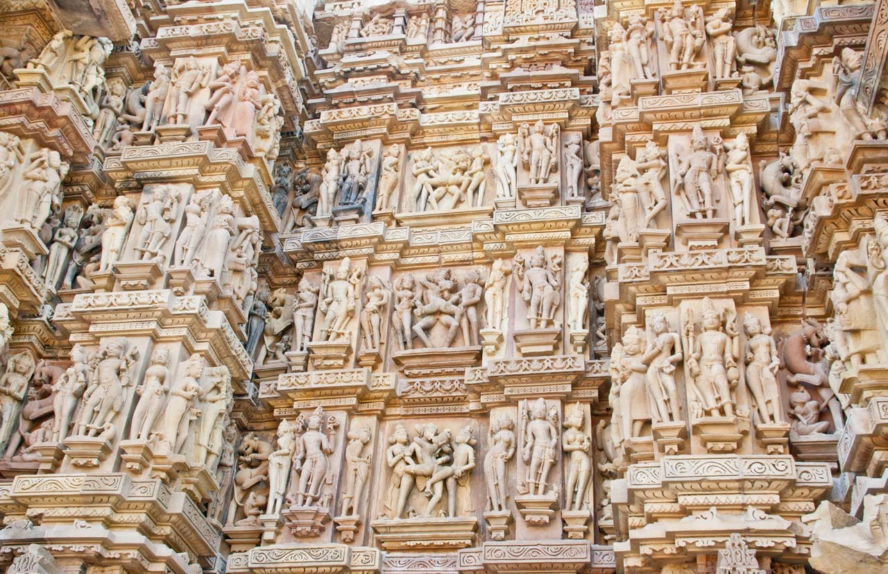 Sculptures of Khajuraho temples