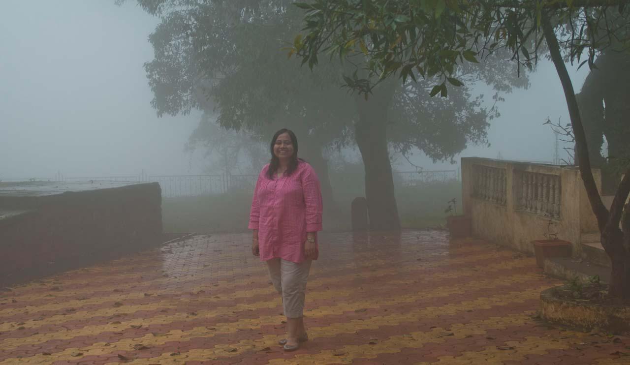 I in mist of Mahabaleshwar
