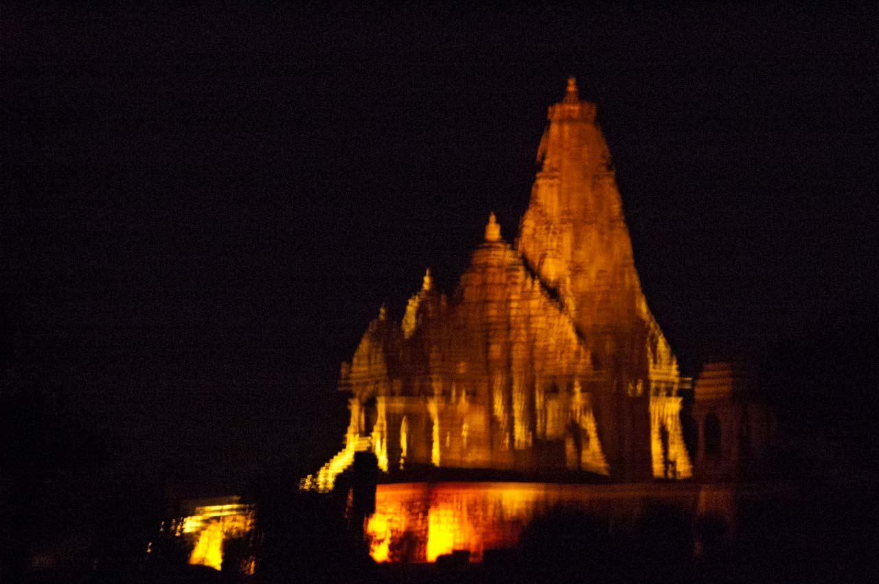 Light and sound show in Khajuraho