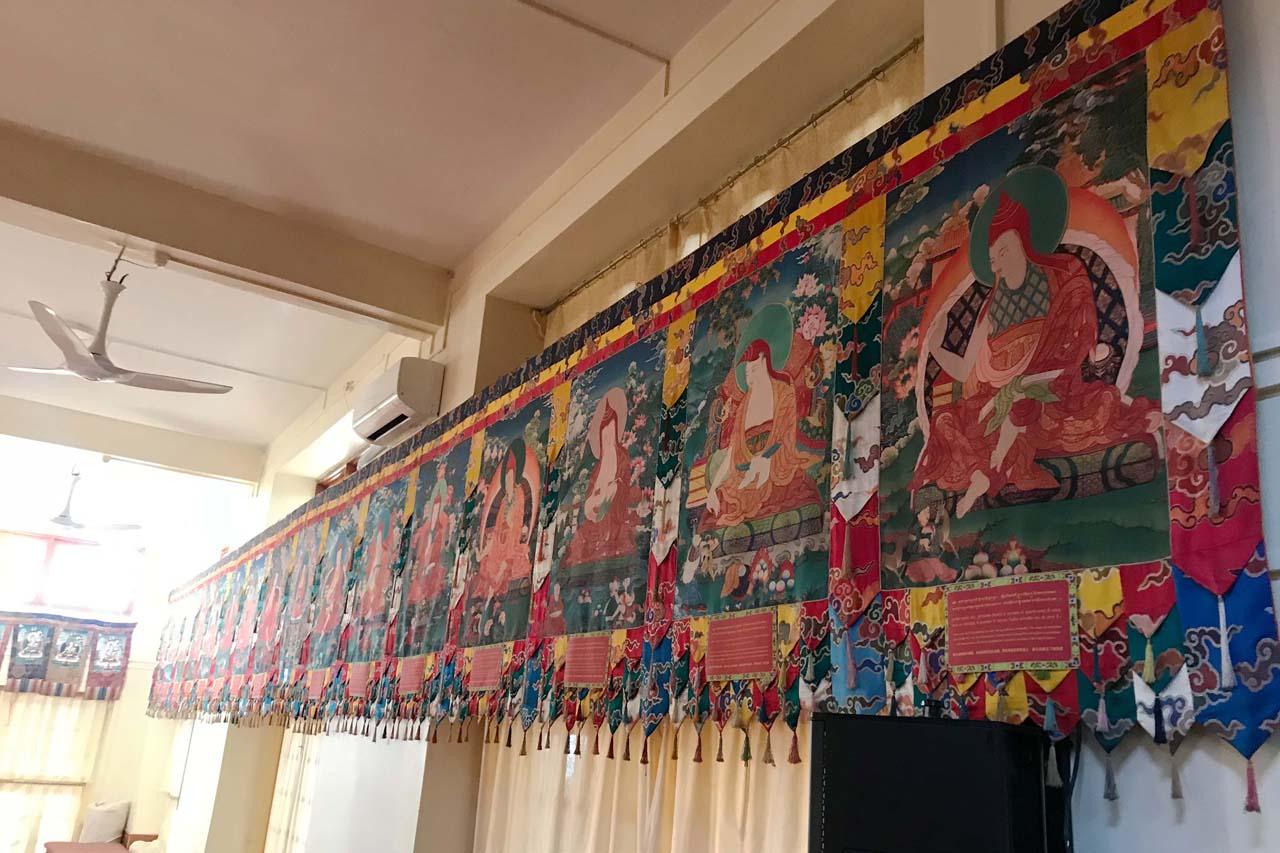 Thangkas in Dalai Lama temple Mcleodganj