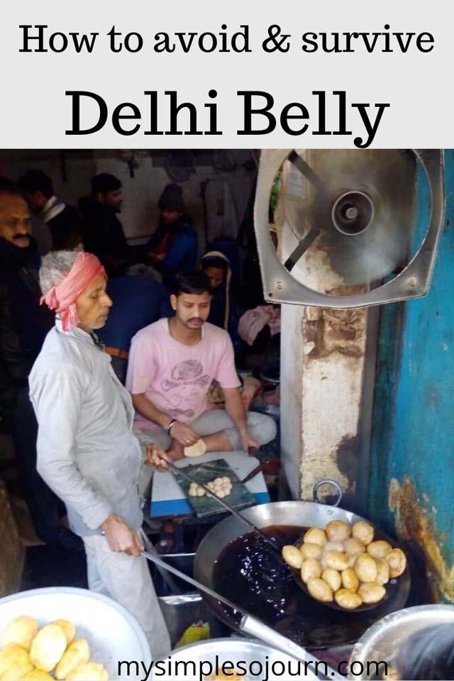 How to avoid Delhi belly in India #traveltips #health #delhibelly #diarrhea #travelsickness #India #tipstoavoiddelhibelly