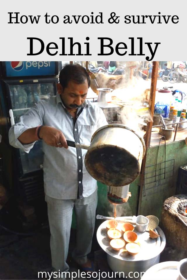 How to avoid Delhi belly in India #traveltips #health #delhibelly #diarrhea #travelsickness #India #tipstoavoiddelhibelly