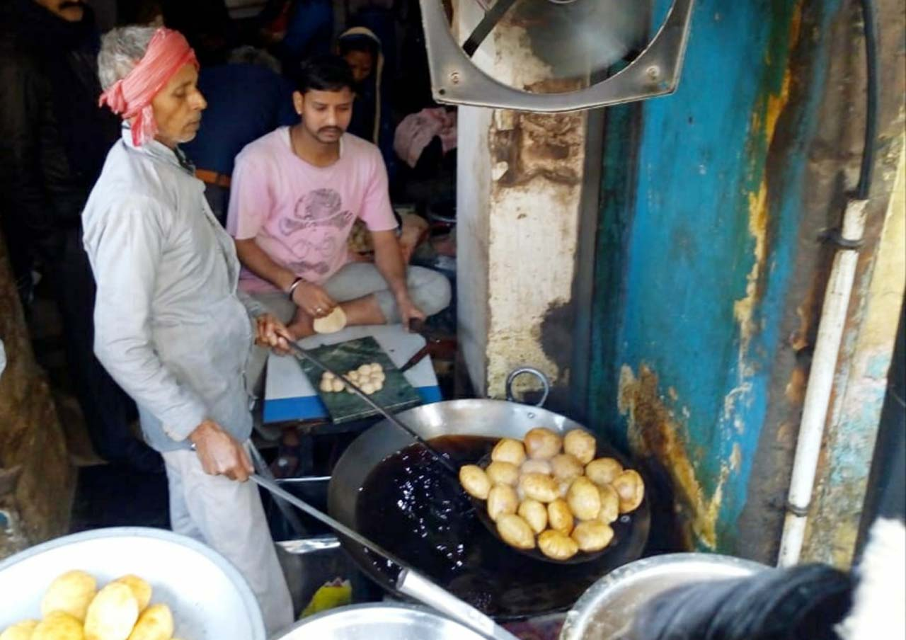 Kachori shop in Varanasi